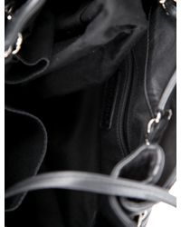 Chanel - Black Expandable Drawstring Tote - Lyst