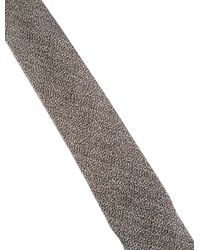 Chanel - Metallic Silk Skinny Tie Gold for Men - Lyst