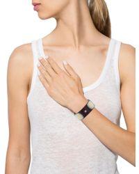 Chanel | Metallic Cc Resin Bracelet Gold | Lyst