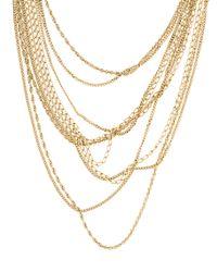 Chanel - Metallic Multichain Necklace Gold - Lyst