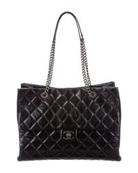 Chanel - Metallic 2015 Large Duo Tote Black - Lyst