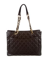 Chanel - Metallic Caviar Grand Shopping Tote Brown - Lyst