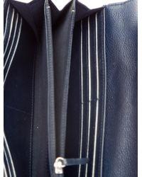 Chanel - Metallic Gusset Flap Wallet Silver - Lyst