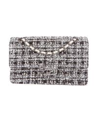 Chanel - White Tweed Classic Medium Double Flap Bag - Lyst
