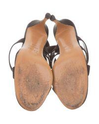 Dior - Black Embellished Ankle Strap Sandals - Lyst