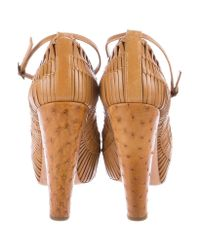 Dior - Brown Woven Leather Pumps Cognac - Lyst