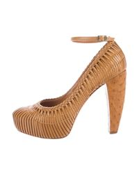 Dior | Brown Woven Leather Pumps Cognac | Lyst