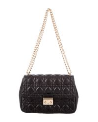 Dior - Metallic Miss Flap Bag Black - Lyst