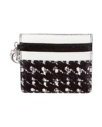 Dior | Black Logo-embellished Python Cardholder W/ Tags | Lyst