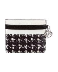 Dior - Black Logo-embellished Python Cardholder W/ Tags - Lyst