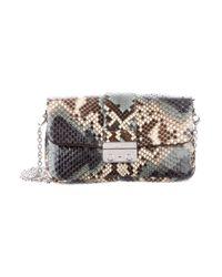 d285e5fc5d7d Lyst - Dior Python New Lock Promenade Bag Blue in Metallic