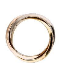 Cartier - Metallic Trinity De Diamond Ring White - Lyst
