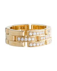 Cartier - Metallic Diamond Maillon Panthère Ring Yellow - Lyst