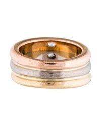 Cartier - Metallic 18k Diamond Ellipse Ring Yellow - Lyst