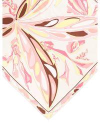 Emilio Pucci - Yellow Silk Printed Scarf Pink - Lyst