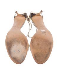 Giuseppe Zanotti - Metallic Embellished Leather Sandals - Lyst