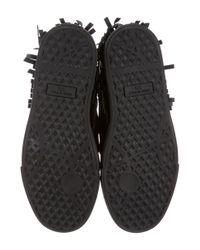 Giuseppe Zanotti | Metallic Fringed High-top Sneakers Black | Lyst