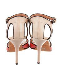 Givenchy - Metallic Colorblock Cutout Sandals Beige - Lyst