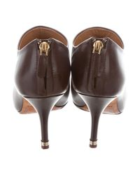 Givenchy | Metallic Leather Ankle Booties Gold | Lyst
