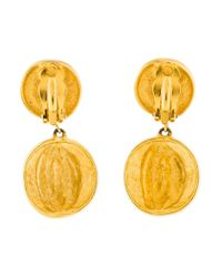 Givenchy - Metallic Faux Pearl & Sculpted Drop Earrings Gold - Lyst