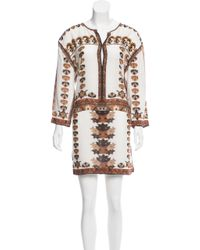 Isabel Marant | Printed Mini Dress Multicolor | Lyst