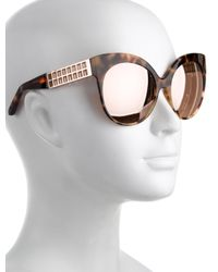 Linda Farrow - Metallic Reflective Cat-eye Sunglasses Brown - Lyst