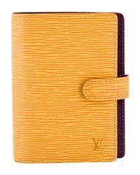 Louis Vuitton - Metallic Epi Small Ring Agenda Cover Brass - Lyst
