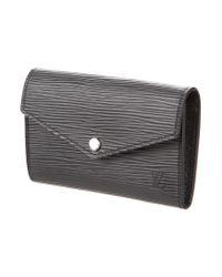 Louis Vuitton - Metallic Epi Pochette Clefs Rabat Key Pouch Black - Lyst