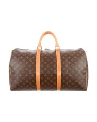 Louis Vuitton - Natural Monogram Keepall 50 Brown - Lyst