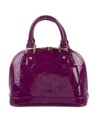 Louis Vuitton | Purple Vernis Alma Bb | Lyst