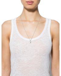 Louis Vuitton - Metallic Lockit Pendant Necklace Silver - Lyst