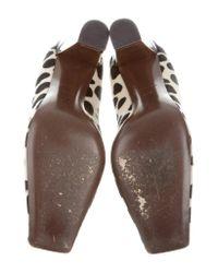 Louis Vuitton - Metallic Square-toe Ponyhair Pumps Black - Lyst