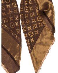 Louis Vuitton - Metallic Monogram Shine Shawl Gold - Lyst