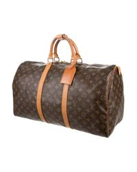 Louis Vuitton - Natural Monogram Keepall 50 Brown for Men - Lyst
