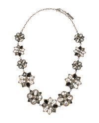 Marc Jacobs - Metallic Crystal Collar Necklace Silver - Lyst
