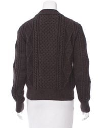 Marc Jacobs | Brown Wool Cable Knit Sweater | Lyst
