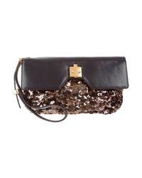 Marc Jacobs   Metallic Leather & Sequin Clutch Black   Lyst