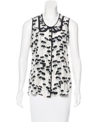 Marc Jacobs | White Printed Silk Top W/ Tags | Lyst