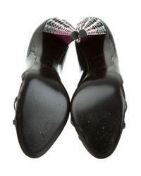 Miu Miu - Black Miu Embellished Patent Leather Pumps - Lyst