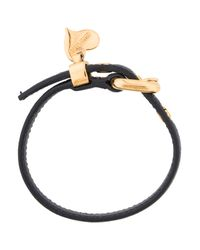 Miu Miu - Metallic Miu St. Cocco Leather Bracelet Gold - Lyst