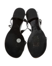 Proenza Schouler - Metallic Crossover Sandals Silver - Lyst