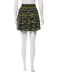 Proenza Schouler - Green Silk Mini Skirt - Lyst