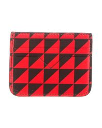 Proenza Schouler - Red Leather Card Holder - Lyst