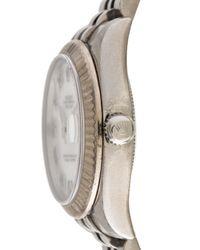 Rolex - Metallic Datejust Watch White - Lyst