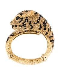 Roberto Cavalli - Metallic Jeweled Panther Cuff Gold - Lyst