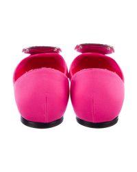 Roger Vivier - Pink Chips Strass Ballerina Flats Fuchsia - Lyst