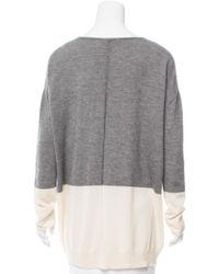 The Row - Gray Oversize Colorblock Sweater Grey - Lyst