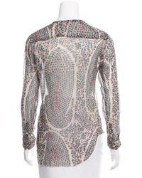 Étoile Isabel Marant - Natural Printed Silk Top - Lyst