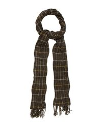 Étoile Isabel Marant | Natural Plaid Rectangle Scarf Olive | Lyst