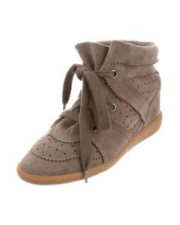 Étoile Isabel Marant - Brown Bobby Wedge Sneakers - Lyst